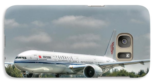 Galaxy Case featuring the photograph Air China 777 by Jeff Cook