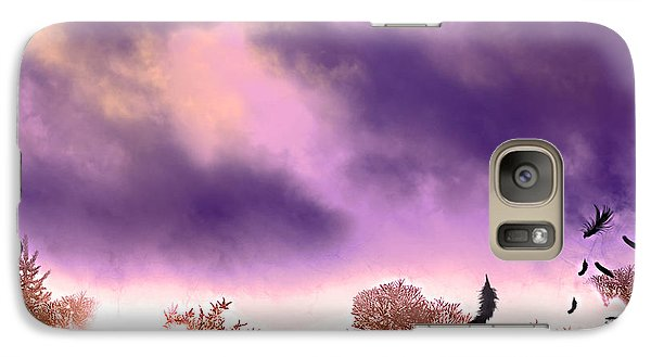 Galaxy Case featuring the painting Air Element by Persephone Artworks