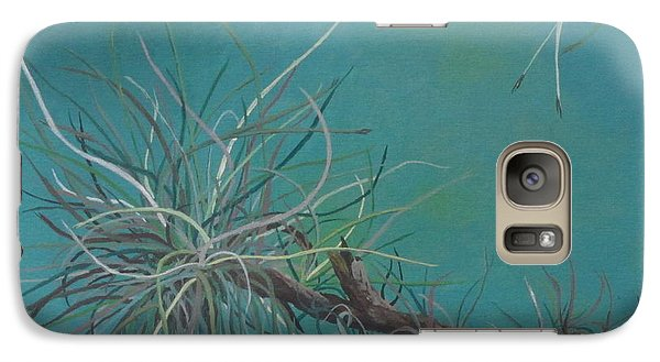 Galaxy Case featuring the painting Air Plant Study by Hilda and Jose Garrancho