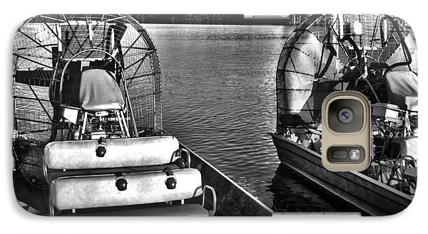 Galaxy Case featuring the photograph Airboats by Timothy Lowry