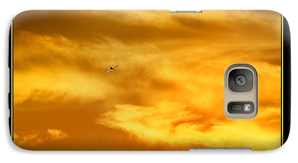 Galaxy Case featuring the photograph Airplane To The Sun by Thomas Bomstad