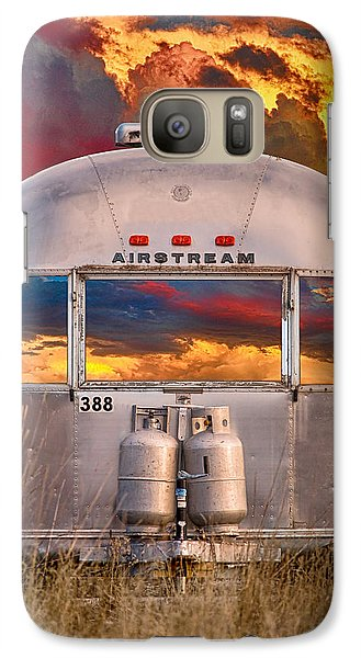 Airstream Travel Trailer Camping Sunset Window View Galaxy S7 Case by James BO  Insogna
