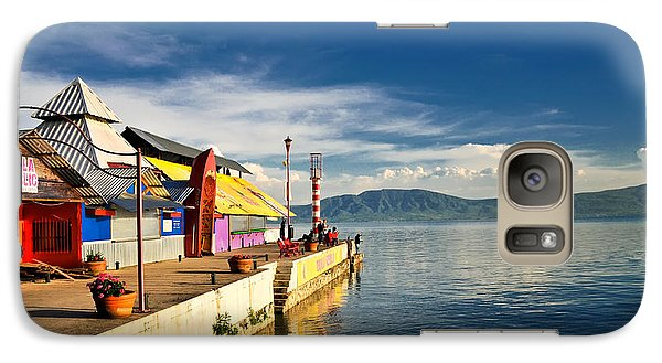 Galaxy Case featuring the photograph Ajijic Pier - Lake Chapala - Mexico by David Perry Lawrence