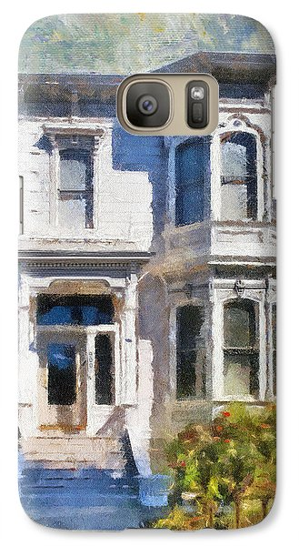 Galaxy Case featuring the painting Alameda 1880 - Queen Anne  by Linda Weinstock
