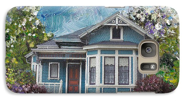Galaxy Case featuring the painting Alameda 1884 - Eastlake Cottage by Linda Weinstock