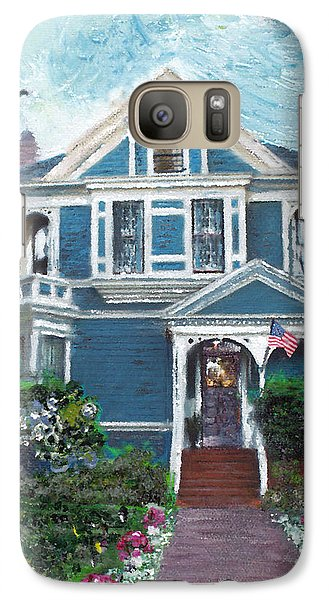 Galaxy Case featuring the painting Alameda 1887 - Queen Anne by Linda Weinstock
