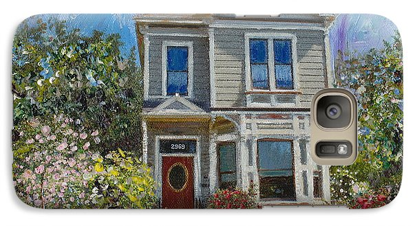 Galaxy Case featuring the painting Alameda 1892 Queen Anne by Linda Weinstock
