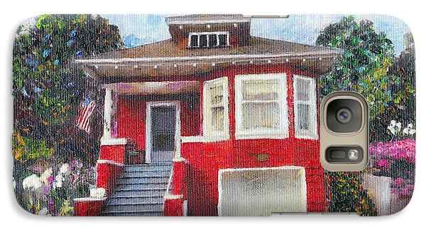Galaxy Case featuring the painting Colonial Revival High Basement Cottage 1907  by Linda Weinstock
