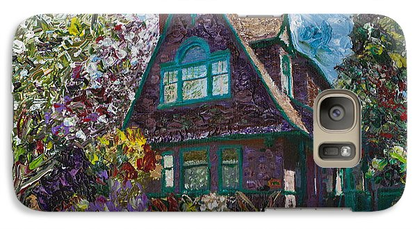 Galaxy Case featuring the painting Alameda 1907 Traditional Pitched Gable - Colonial Revival by Linda Weinstock