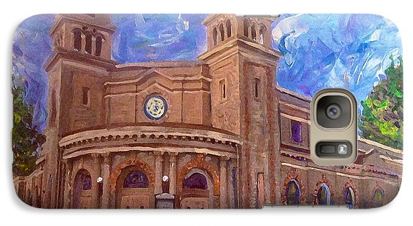 Galaxy Case featuring the painting Alameda 1909  Twin Towers Church - Italian Renaissance  by Linda Weinstock