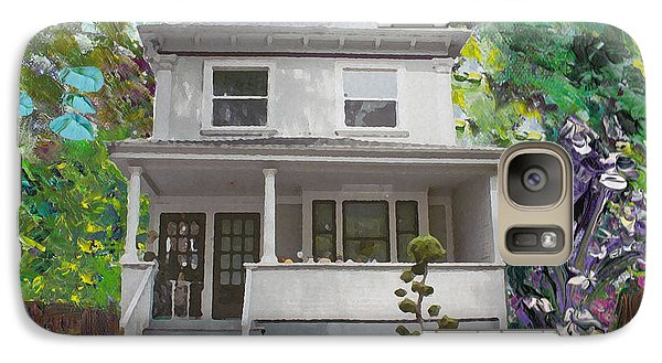 Galaxy Case featuring the painting Alameda 1933 Duplex - American Foursquare  by Linda Weinstock