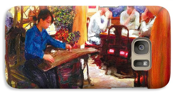 Galaxy Case featuring the painting Guzheng by Linda Weinstock