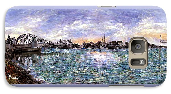 Galaxy Case featuring the painting Alameda High Street Bridge  by Linda Weinstock