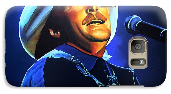 Realistic Galaxy S7 Case - Alan Jackson Painting by Paul Meijering