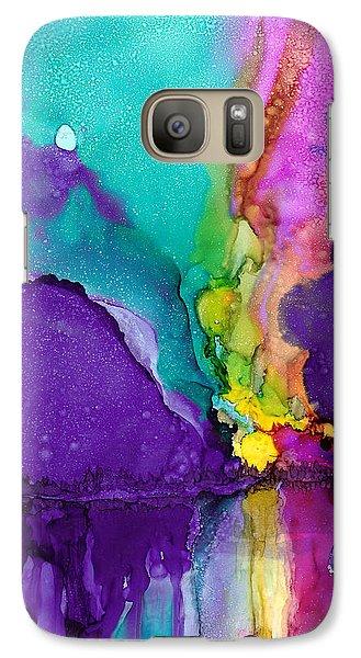 Galaxy Case featuring the painting Alaska Aurora Borealis by Karen Mattson