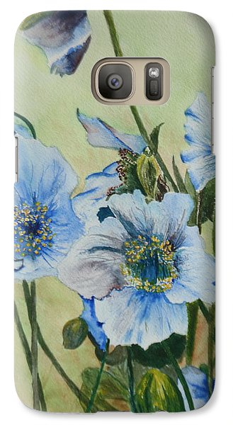Galaxy Case featuring the painting Alaska Blues by Betty-Anne McDonald