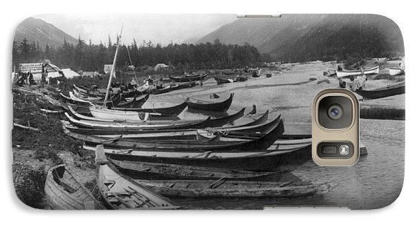Galaxy Case featuring the photograph Alaska Canoes, C1897 by Granger