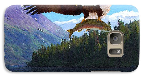 Galaxy Case featuring the painting Alaska Fly Fishing by Doug Kreuger