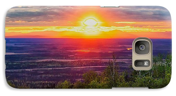 Galaxy Case featuring the photograph Alaska Land Of The 11 Pm Sun by Michael Rogers