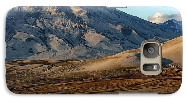 Galaxy Case featuring the photograph Alaska Landscape Scenic Mountains Snow Sky Clouds by Paul Fearn