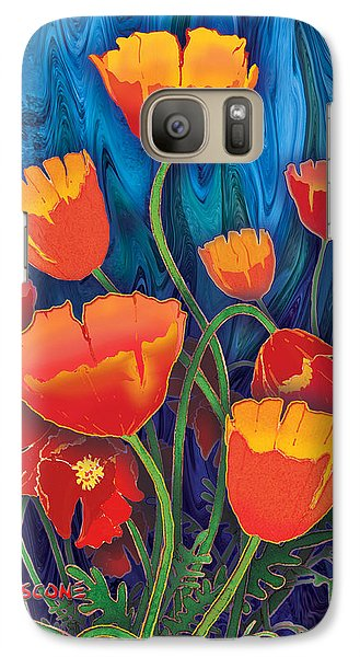 Galaxy Case featuring the mixed media Alaska Poppies by Teresa Ascone