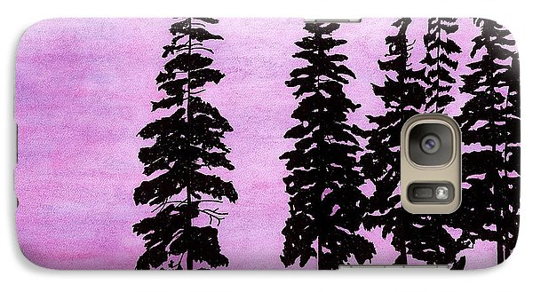 Galaxy Case featuring the drawing Colorful - Alaska - Sunset by D Hackett