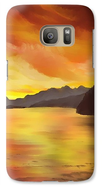 Galaxy Case featuring the painting Alaska Sunset by Terry Frederick