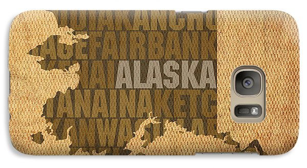 Alaska Word Art State Map On Canvas Galaxy Case by Design Turnpike