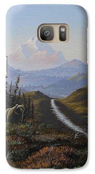 Galaxy Case featuring the painting Alaskan Brown Bear by Richard Faulkner