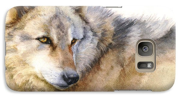 Galaxy Case featuring the painting Alaskan Gray Wolf by Bonnie Rinier