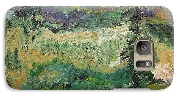 Galaxy Case featuring the painting Alaskan Landscape by Shea Holliman