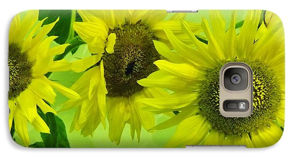 Galaxy Case featuring the photograph Alaskan Sunflowers by Brigitte Emme