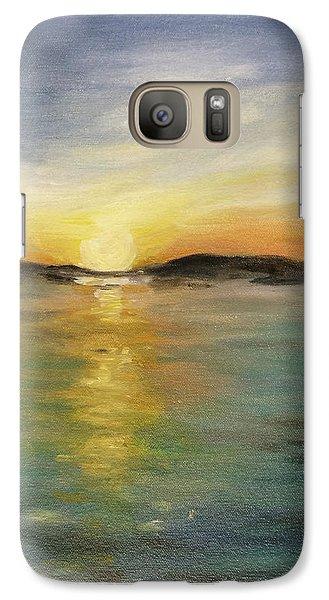 Galaxy Case featuring the painting Alaskan Sunrise by Barbara Anna Knauf