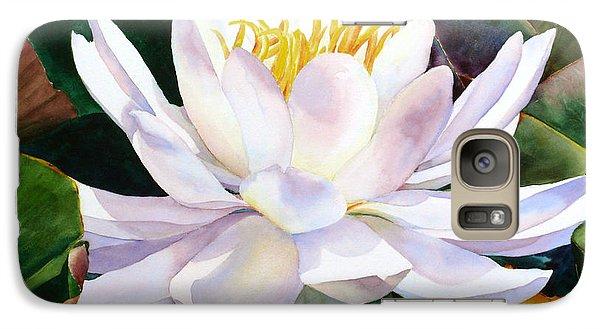 Galaxy Case featuring the painting Alba Flora by Karen Mattson