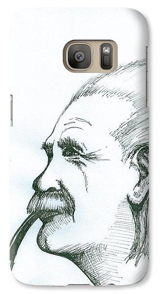 Galaxy Case featuring the painting Albert Einstein by Richie Montgomery