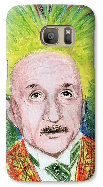 Galaxy Case featuring the drawing Albert Einstein by Yoshiko Mishina