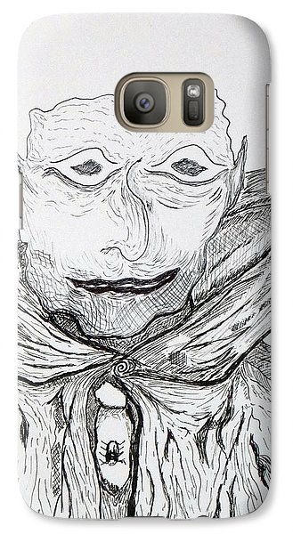 Galaxy Case featuring the drawing Albert by Martin Blakeley