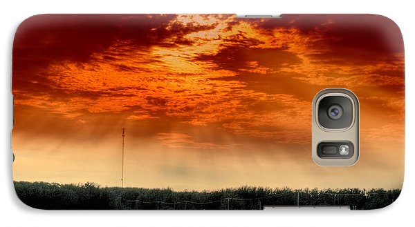 Galaxy Case featuring the photograph Alberta Canada Cattle Herd Hdr Sky Clouds Forest by Paul Fearn
