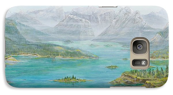 Galaxy Case featuring the painting Alberta Rocky Mountains by Cathy Long