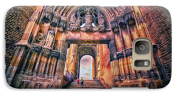 Galaxy Case featuring the photograph Albi Cathedral Arch To Heaven II by Jack Torcello