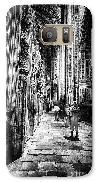 Galaxy Case featuring the photograph Albi Cathedral France Bw by Jack Torcello