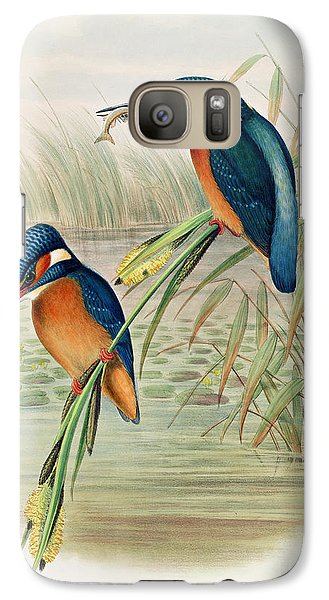 Alcedo Ispida Plate From The Birds Of Great Britain By John Gould Galaxy S7 Case by John Gould William Hart