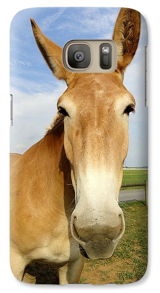 Galaxy Case featuring the photograph Alert And Ready To Work by Mary Beth Landis