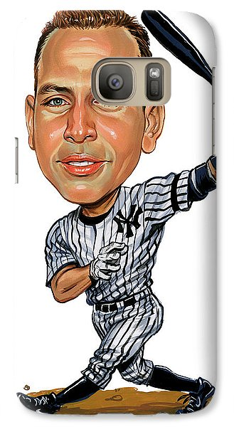 New York Yankees Galaxy S7 Case - Alex Rodriguez by Art