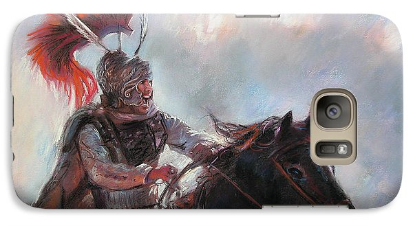 Galaxy Case featuring the drawing Alexander The Great  by Viola El