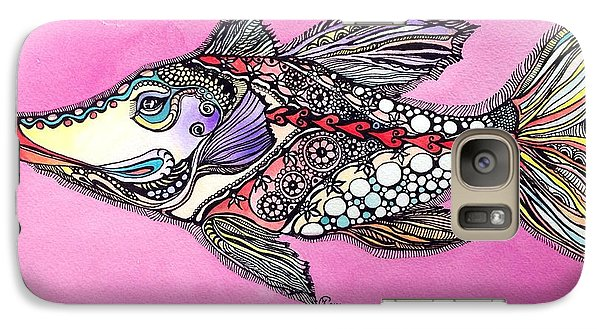 Galaxy Case featuring the painting Alexandria The Fish by Iya Carson