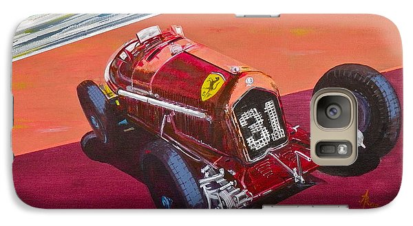 Galaxy Case featuring the painting Alfa Romeo Tipo B P3  by Anna Ruzsan