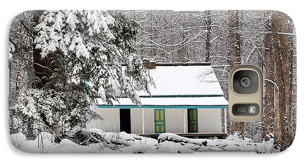Galaxy Case featuring the photograph Alfred Reagan's Home In Snow by Debbie Green