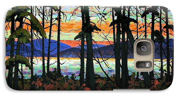 Galaxy Case featuring the painting Algoma Sunset Acrylic On Canvas by Michael Swanson