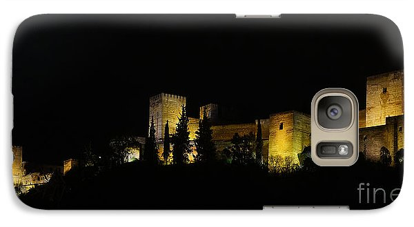 Galaxy Case featuring the photograph Alhambra At Night by Rudi Prott